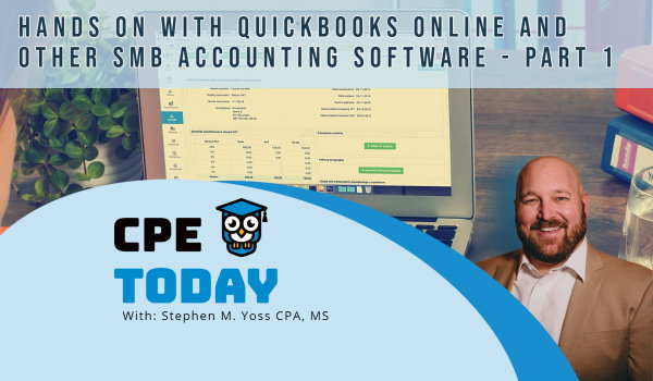 Hands On With QuickBooks Online and Other Small Business Accounting Software – Part 1