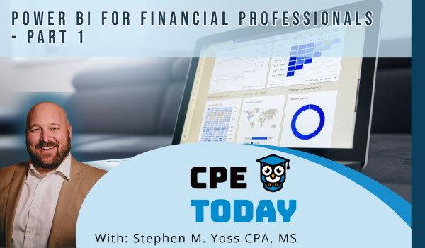 Power BI for Financial Professionals - Part 1